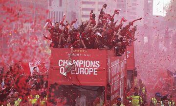Πολύωρη φιέστα στο Λίβερπουλ για την κατάκτηση του Champions League (vids)