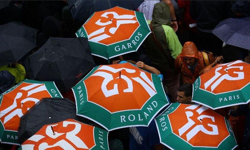 Αναβλήθηκαν λόγω βροχής οι προημιτελικοί στο Ρολάν Γκαρός