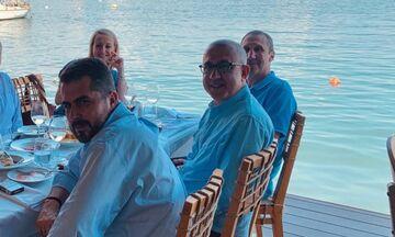 Μπλατ, Μπαφές, Σταυρόπουλος, Λεπενιώτης για ψαράκι στο Μικρολίμανο (pic)