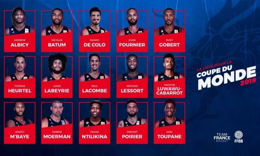 2019 FIBA Basketball World Cup: Με Τουπάν η προεπιλογή της Γαλλίας