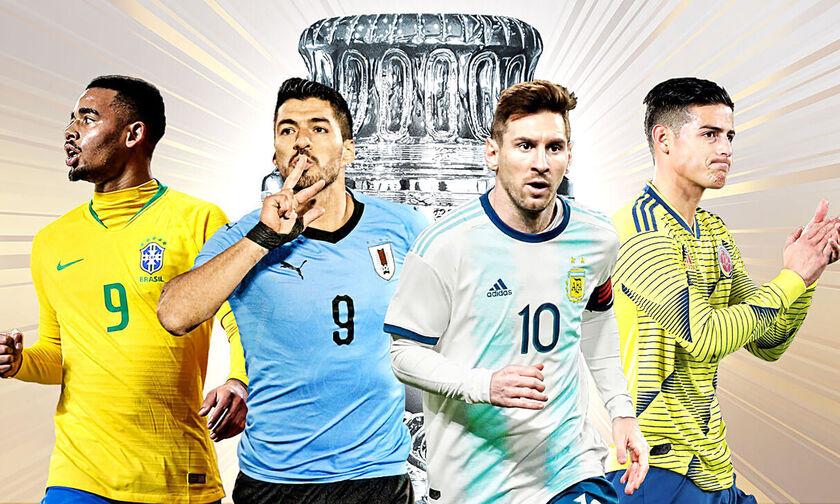 Copa America 2019: Τα προφίλ, η χρυσή βίβλος, τα ρόστερ, το πρόγραμμα και η TV