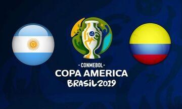 LIVE Streaming: Αργεντινή - Κολομβία (01:00)