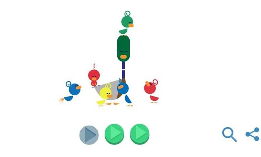 To doodle της Google για την γιορτή του πατέρα