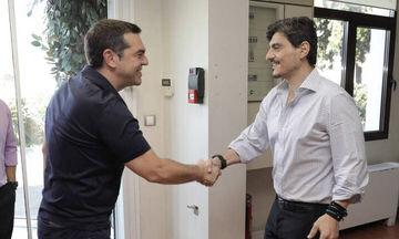Συνάντηση Τσίπρα - Γιαννακόπουλου στα γραφεία της DPG