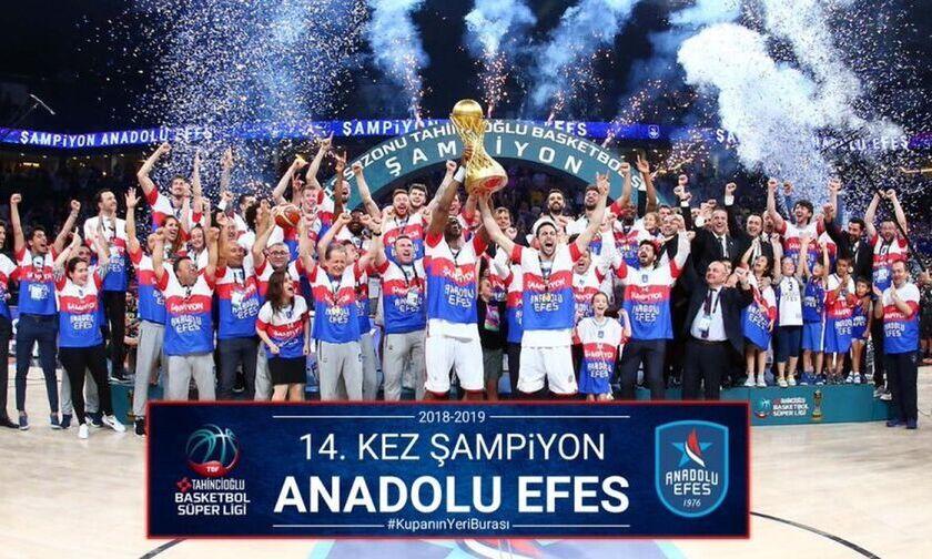 Η Αναντολού Εφές έχει περισσότερους τίτλους από την Φενέρμπαχτσε στην Τουρκία