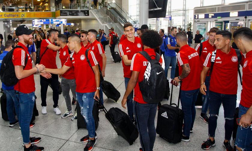 Ολυμπιακός: Τα νέα πρόσωπα χαμογελαστά στην αναχώρηση για Πολωνία (pics)
