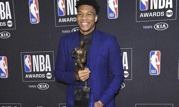 ΝΒΑ Awards 2019: MVP της σεζόν ο Γιάννης Αντετοκούνμπο