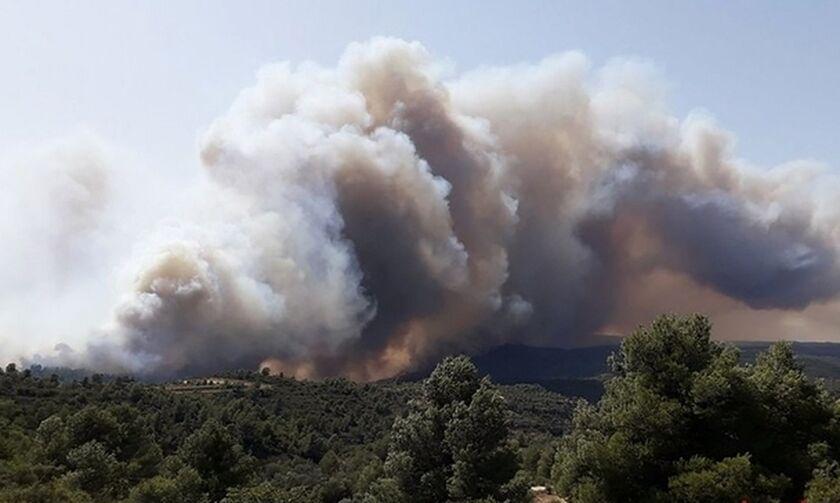 Καίγεται η Καταλωνία, μεγάλη φωτιά