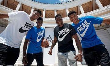 Αντετοκούνμπο: «Κάποτε μοιραζόμουν τα παπούτσια με τους αδερφούς μου, τώρα έχω δικά μου»