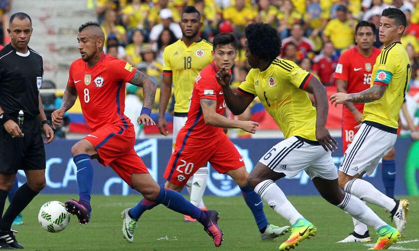 Live Streaming: Κολομβία - Χίλη (02:00)
