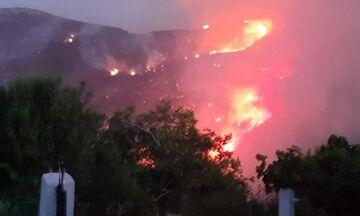 Φωτιά στην Εύβοια: Πέντε πολίτες στο νοσοκομείο