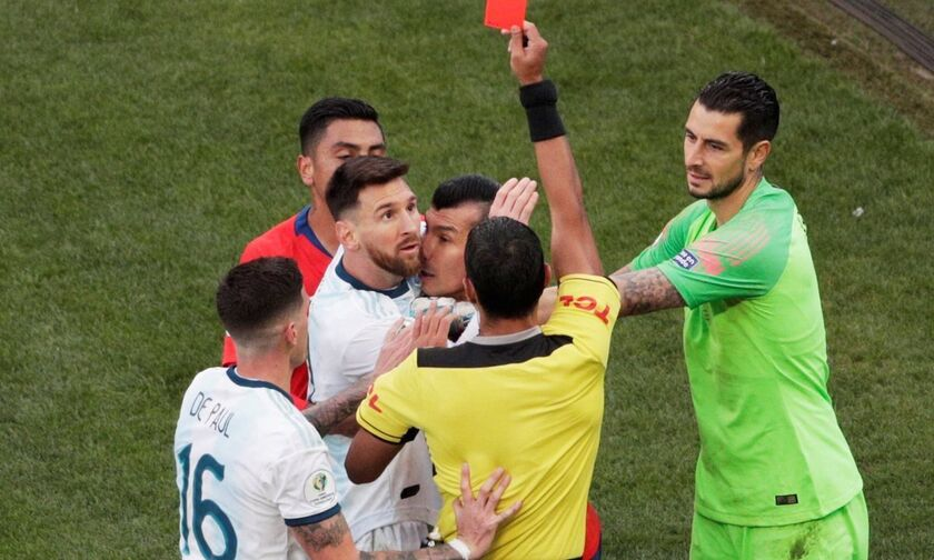 Copa America 2019: Δείτε τη στιγμή της αποβολής του Μέσι (vid)
