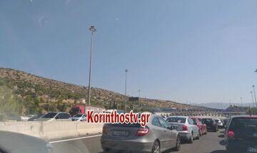 Απίστευτο μποτιλιάρισμα από τα διόδια της Ελευσίνας προς Κόρινθο (pic)