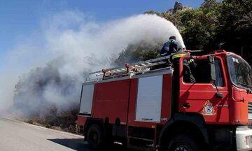 TΩΡΑ: Φωτιά στη Μάνδρα Αττικής κοντά σε μοναστήρι (pic)