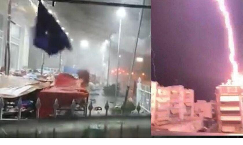 Καιρός... φονιάς: Βίντεο τη στιγμή που η κακοκαιρία «χτυπά» τη Χαλκιδική
