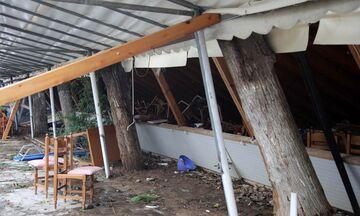 Χαλκιδική: Οι εικόνες από την ταβέρνα στην οποία σκοτώθηκαν μάνα και γιος. Ότι απέμεινε (vid)