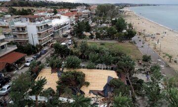 Χαλκιδική: Δορυφόρος κατέγραψε την πορεία της καταιγίδας (vid)