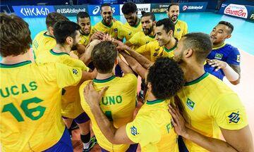 """Η Βραζιλία στους """"4"""" του Volleyball Nations League (vid)"""