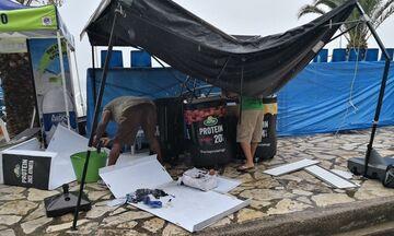 Beach Volley: Οι καταστροφές δεν εμπόδισαν την διεξαγωγή του ANTIRRION MASTERS (pics)