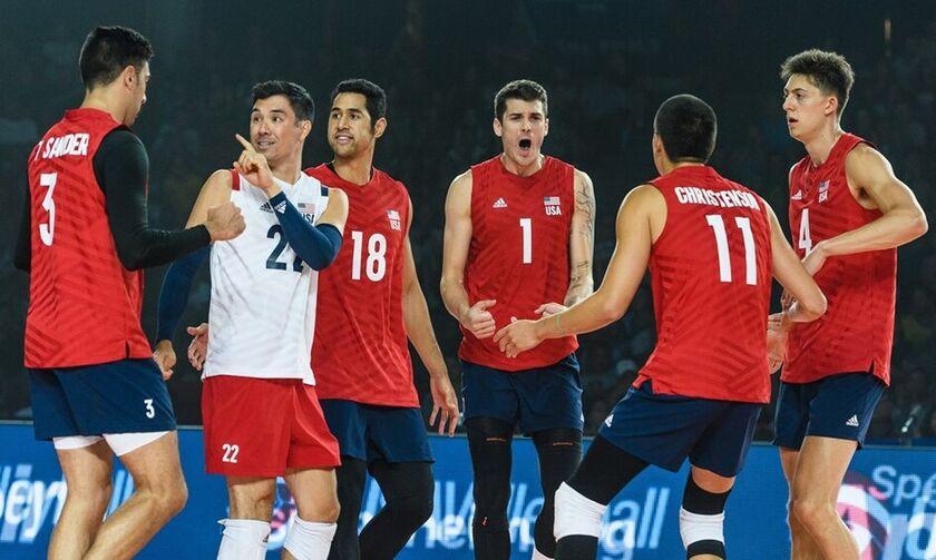 Στον τελικό του Volleyball Nations League οι ΗΠΑ με Γκάρετ  (vid)