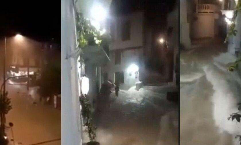 Καιρός: Ο Αντίνοος χτύπησε σε Κορινθία, Σποράδες - Eγκλωβίστηκαν οδηγοί (vid)