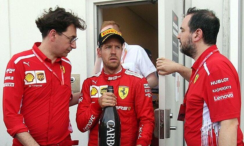 Δυσαρεστημένη η Ferrari με τα λάθη του Φέτελ