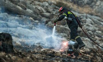 Φωτιά τώρα στο Μαρκόπουλο Αττικής