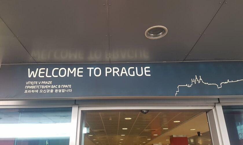 Έφτασε στην Πράγα ο Ολυμπιακός (vids)