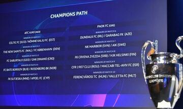 Τα αποτελέσματα της κλήρωσης για τον Γ' προκριματικό γύρο του Champions League