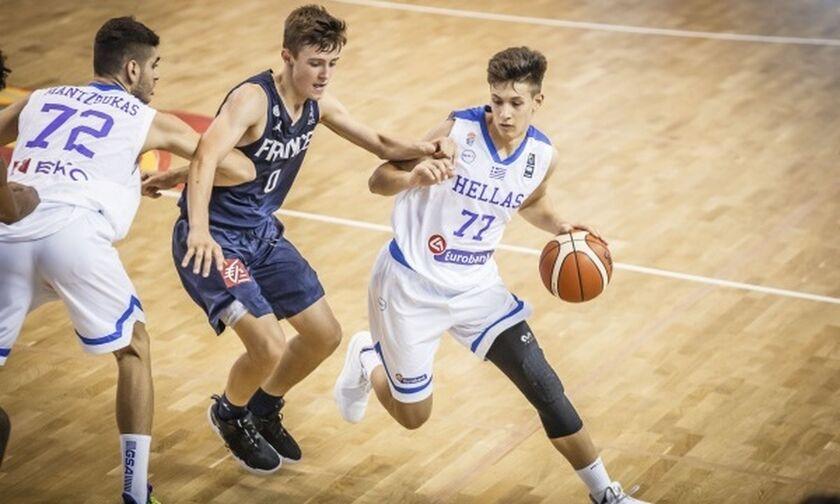 Ήττα από τη Γαλλία και τρίτη θέση για την Εθνική Παίδων (54-59)