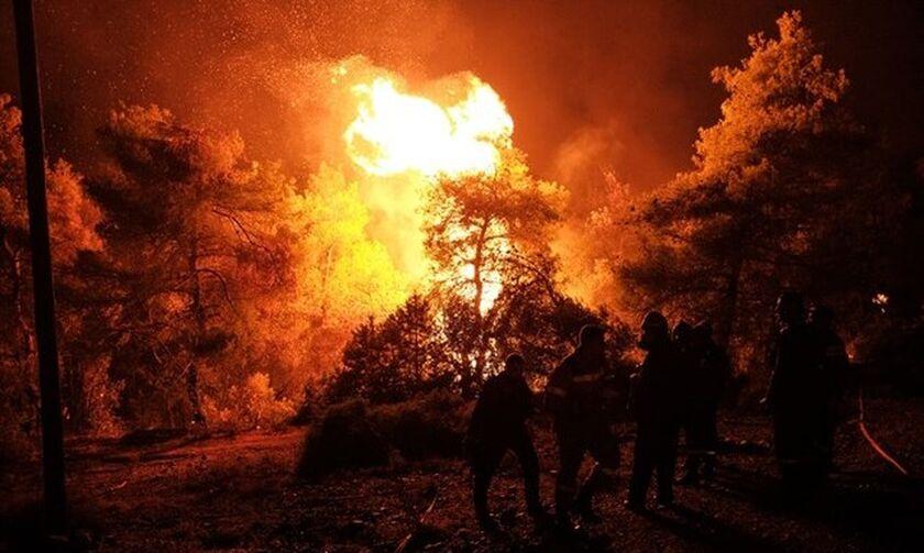 Πυρκαγιά στην Εύβοια: Ενδείξεις για εμπρησμό! - Νέα ολονύχτια μάχη με τις φλόγες (vids)