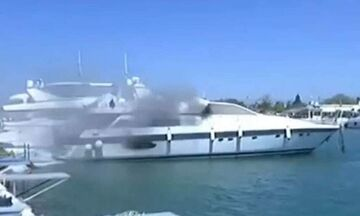 Φωτιά σε σκάφος στην Γλυφάδα