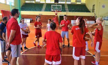 Η πρώτη προπόνηση της ομάδας μπάσκετ Γυναικών του Ολυμπιακού