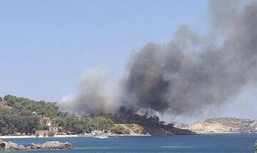 Πυρκαγιά στην Λέρο - Κινητοποίηση της Πυροσβεστικής από Αθήνα και Σάμο! (vid)