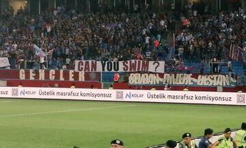 Τραμπζονσπόρ - ΑΕΚ: Το εμετικό πανό των Τούρκων για τη Σμύρνη (pic)
