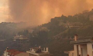 ΕΚΤΑΚΤΟ: Διακοπή κυκλοφορίας στην Πεντέλη λόγω πυρκαγιάς