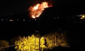 Μεγάλη φωτιά τώρα στη Νέα Μάκρη - Οι πρώτες εικόνες (pics)