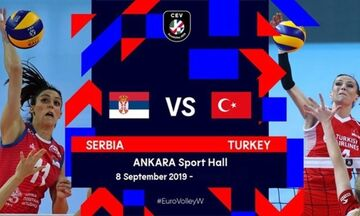 Live Streaming: Ευρωβόλεϊ γυναικών: Σερβία - Τουρκία 3-2 σετ (τελικό)