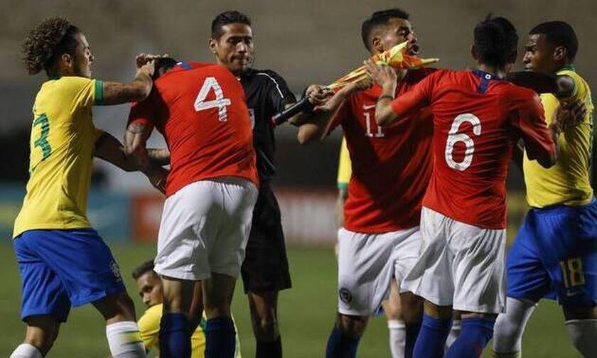 Βραζιλία - Χιλή Κ23: Γκολ και... ξύλο! (vid)