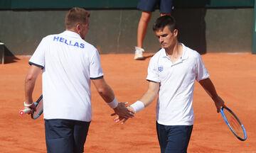 Davis Cup: Πρόκριση με 2-1 νίκες, με Λετονία στα πλέι οφ (vid)