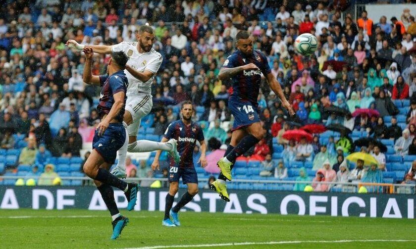 Primera Division: Ρεάλ - Λεβάντε 3-2: Ο Μπενζεμά έβαζε, η άμυνα έμπαζε (vid)