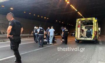 Πήδηξε από γέφυρα για να αυτοκτονήσει και έπεσε πάνω σε μοτοσικλετιστή