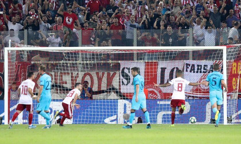 Ολυμπιακός-Τότεναμ 2-2: Πώς έζησαν τα γκολ τους Ποντένσε, Βαλμπουενά (vid)