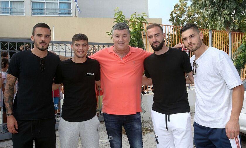 Παναθηναϊκός - Ολυμπιακός: «Συμπαίκτες» Μασούρας, Κουρμπέλης, Μαυρομάτης, Μπουζούκης!  (pics)