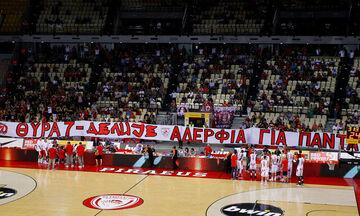 Πανό των οπαδών του Ολυμπιακού για Ερυθρό Αστέρα (vid)