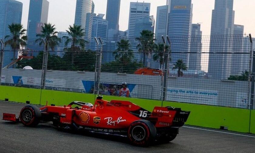 O Λεκλέρκ την pole position στο γκραν πρι της Σιγκαπούρης
