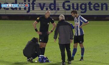 Διαιτητής ολοκλήρωσε ματς στην Ολλανδία με σπασμένο αστράγαλο! (vid)