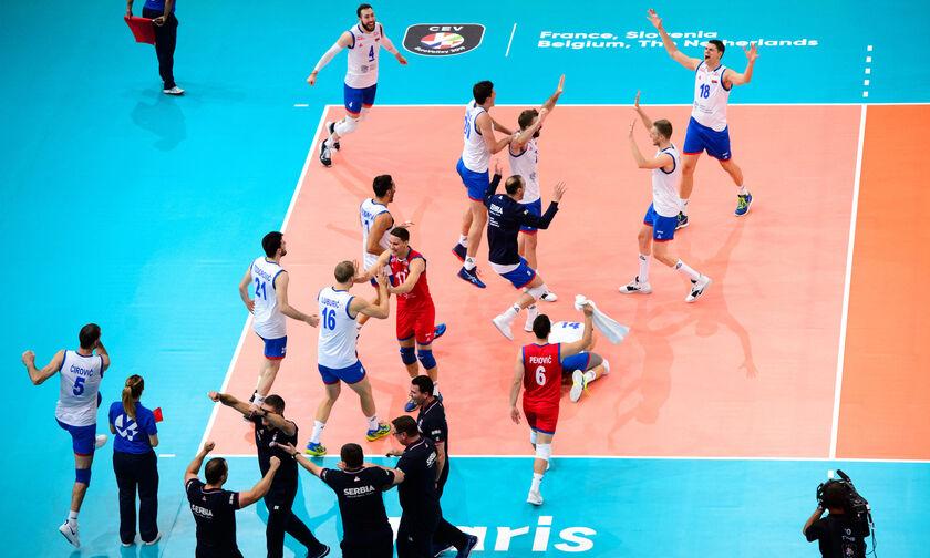 Ευρωβόλεϊ 2019: Σούπερ Σερβία, 3-2 με 16 μπλοκ τη Γαλλία, προκρίθηκε  στον τελικό (pics,highlights)
