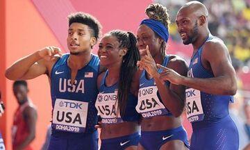 Παγκόσμιο πρωτάθλημα στίβου 2019: Άνδρες-γυναίκες έτρεξαν μαζί και έκαναν παγκόσμιο ρεκόρ στα 4χ400