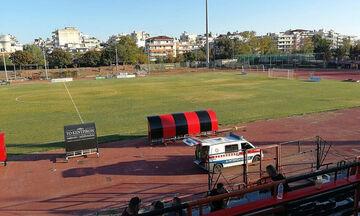 Video από την πτώση που έφερε το θάνατο του 70χρονου στο γήπεδο της Καλαμαριάς (vid)